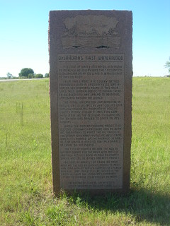 Oklahoma's First Waterflood Marker