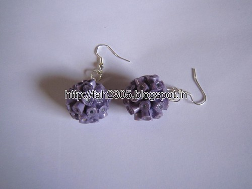 Handmade Jewelry - Paper Quilling Globe Earrings (2) by fah2305