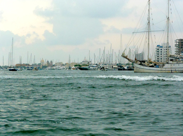 Cartagena water and ships