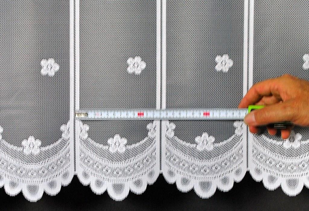14 cm breite scheibengardinen mit blume 90 cm hoch wei ebay. Black Bedroom Furniture Sets. Home Design Ideas