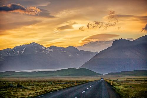sunset landscape iceland nationalpark glacier icelandic glacial skaftafellsjokull vatnajökull skaftafellsjökull vatnajökullnationalpark