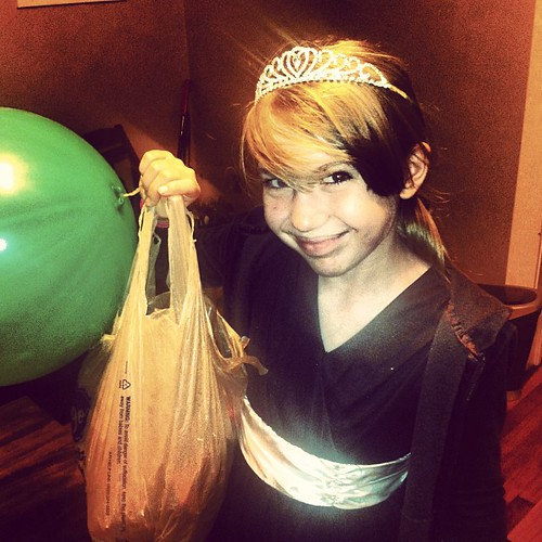 Princess Laura home with her royal haul. #lightthenight #restorationchurch #princess #toomuchsugar