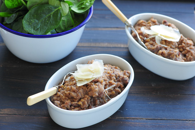 sausage & red wine lentil 'risotto'-3