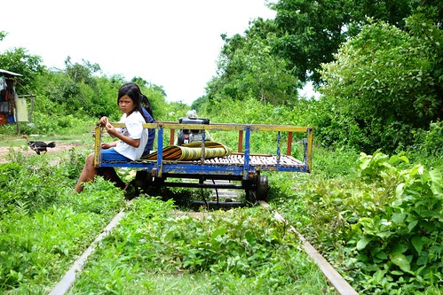 Local Cambodian kids...Bamboo Train in Battambang, Cambodia