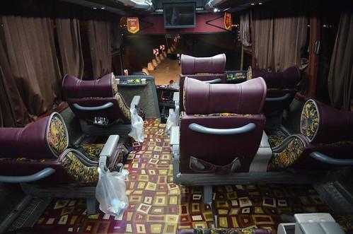 Interior de un autobús VIP en Irán