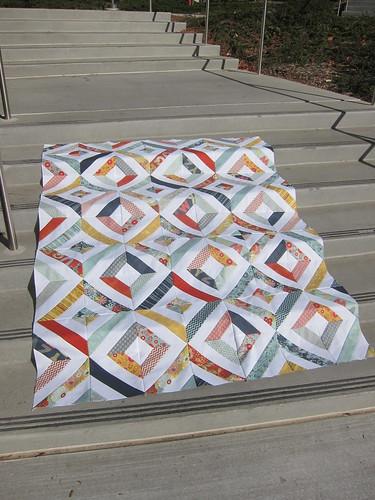 PB & J String quilt top
