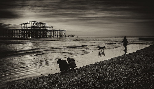 West Pier with Dog