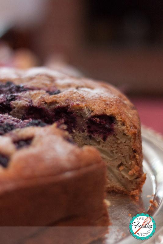 Blackberry, Apple & Bourbon Cake