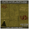 Clutter for Builders - Noel Fabric III Textures Pine Needle Gru