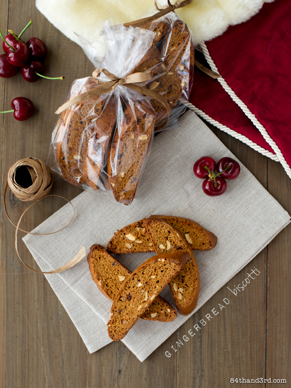 Gingerbread Biscotti – Coconut Caramel Gingerbread Biscotti to be exact