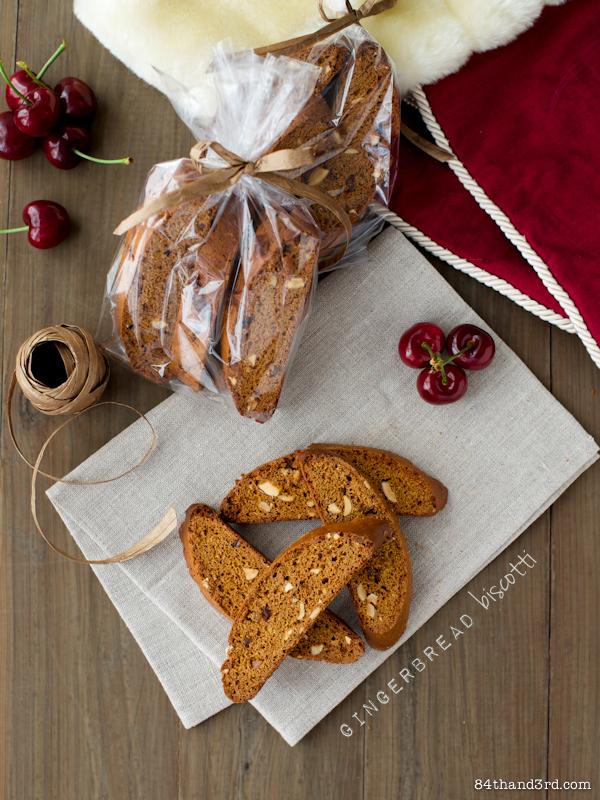 Coconut Caramel Gingerbread Biscotti