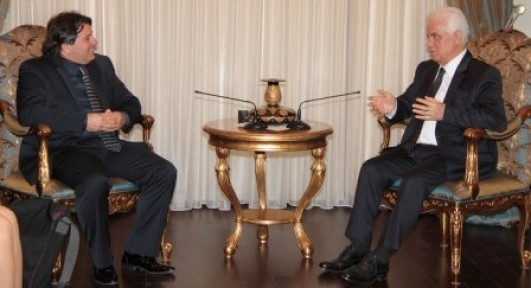 Cumhurbaşkanı Eroğlu Prof.Dr.İzzet Bozkurt'u kabul etti