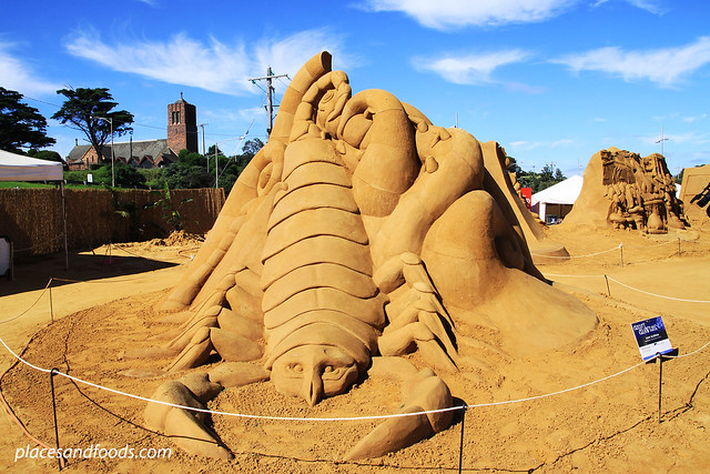 frankston sand sculpting giant scorpion