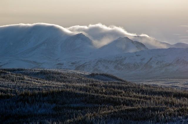 Fog Moving Over Miner's Range