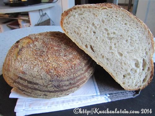 ©Weizensauerteigbrot mit Kleiekruste -  bran-encrusted levain bread