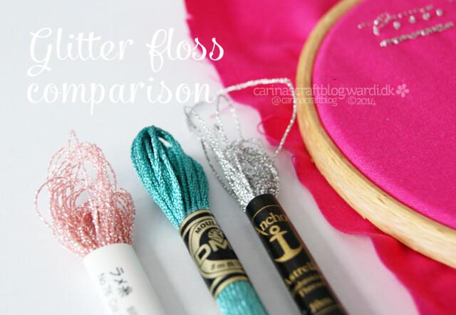 Glitter Floss Comparison