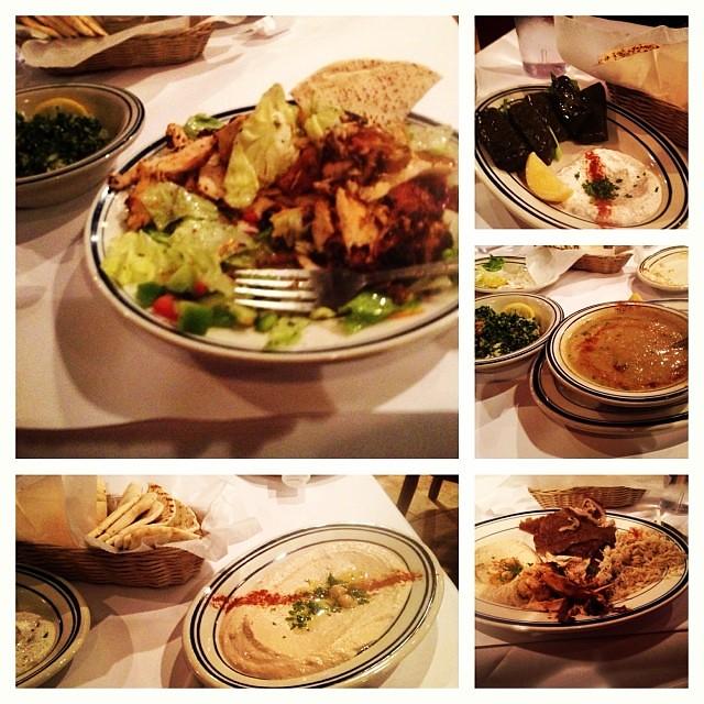 #dinner at Zeus Lebanese Cafe! #lebanese #greek #hummus #tabouleh #lentilsoup #grapeleaves