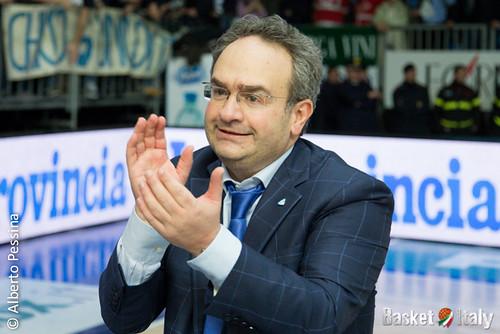 "Coach Stefano ""Pino"" Sacripanti Acqua Vitasnella Cantu"