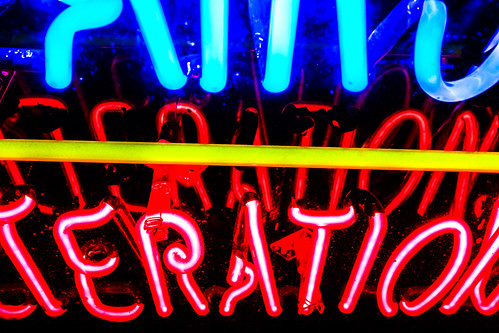 Teration - Neon Sign by joeeisner