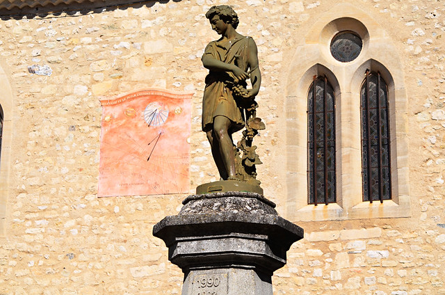 Church and statue,Saint-Michel-l'Observatoir, Provence