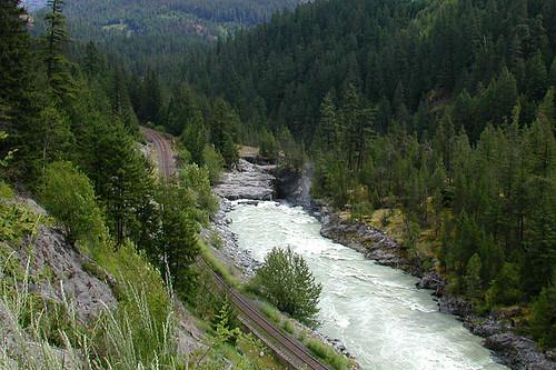 The Green River near Nairn Falls Park, Pemberton, Sea to Sky Highway, British Columbia, Canada