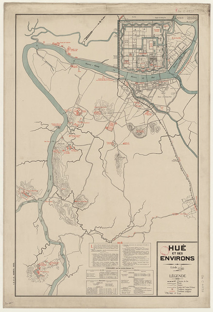 1930 Hué et ses environs - Bản đồ Huế và vùng phụ cận