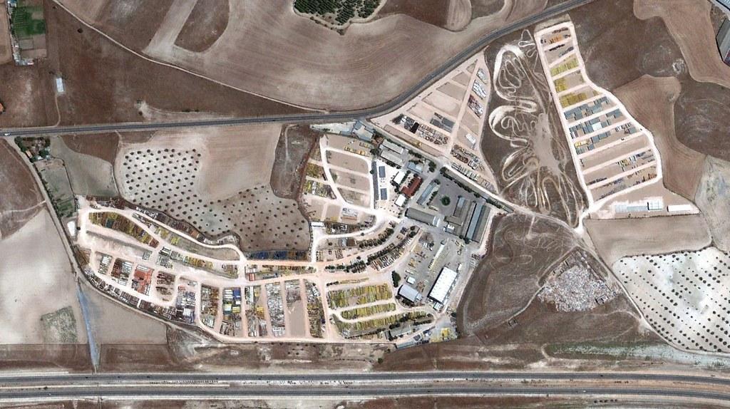 parque de maquinaria acs-gragados, ciempozuelos, valdemoro, madrid, indicador de la actividad de El Ramo, después, urbanismo, planeamiento, urbano, desastre, urbanístico, construcción, rotondas, carretera