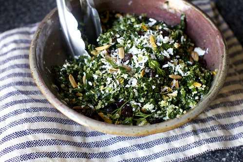 kale quinoa salad with ricotta salata