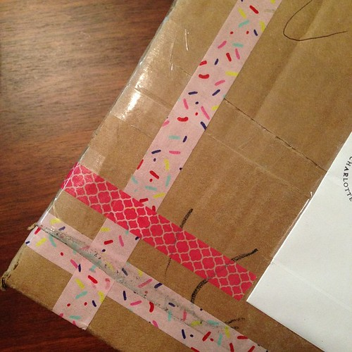 71:365 A birthday gift!!! Open it now or wait until my birthday Tuesday? #handmadebirthdayclub #handmadebirthdayclub2014