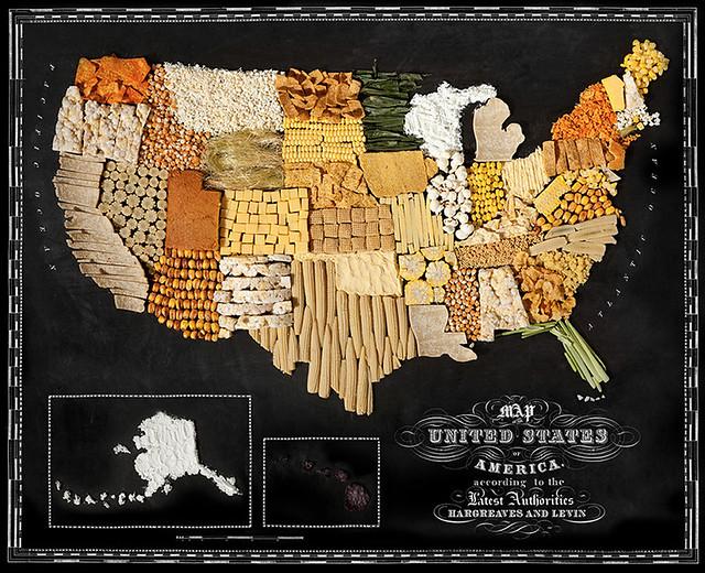 Mape država i kontinenata napravljene od njihove omiljene hrane! 13205112265_3aaeb57dcf_z