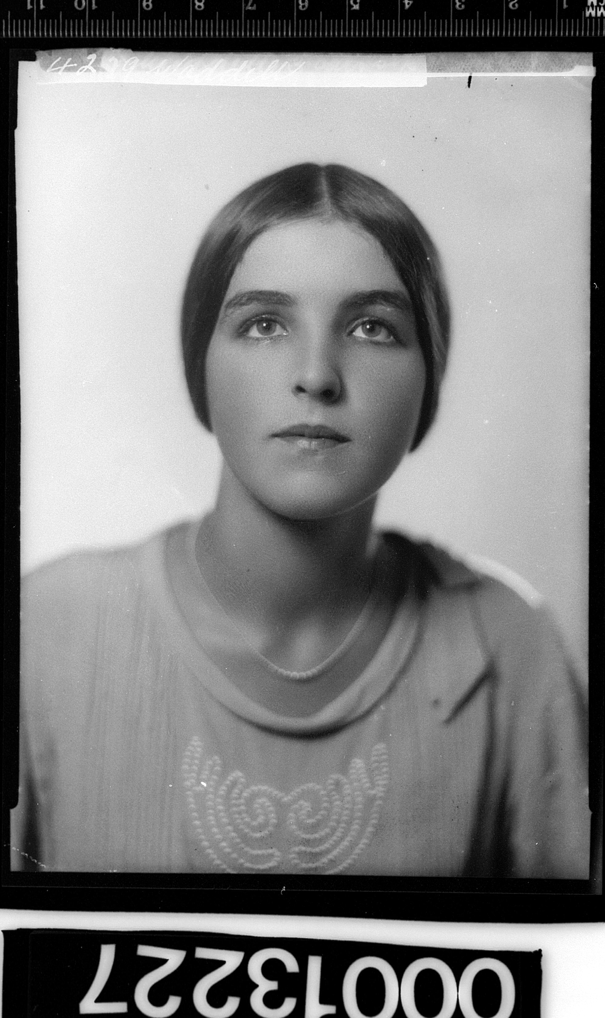 Portrait of an unidentified woman