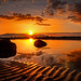 Sand Ripple Rock Pool Sunset by g crawford
