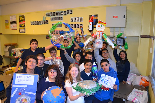 Locke students display projects created with recycled plastic. © Brad Parker