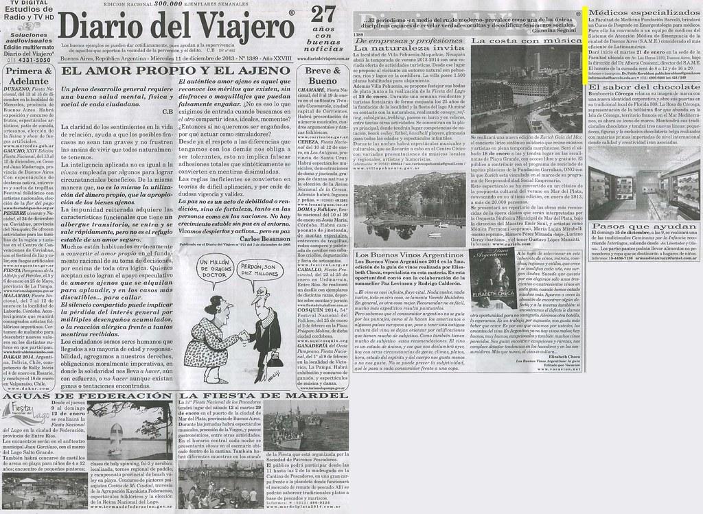 Diario del Viajero 11-12-13