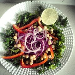 Kale & chickpea #salad #food #vegan...