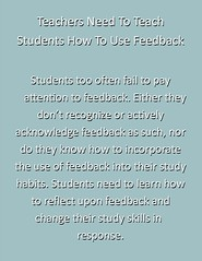 "Educational Postcard:  ""Teachers Need to teach students how to use feedback"""