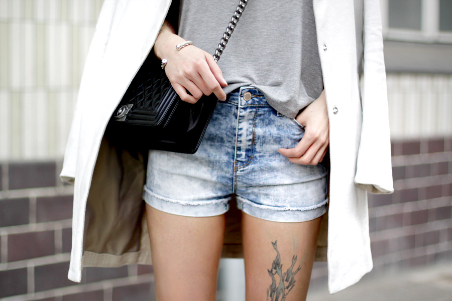 Jeans Shorts Tally Weijl 3 ways to wear blogger style party shopping weekend styling outfit ootd CATS & DOGS fashion blog Berlin Ricarda Schernus 1