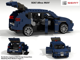 SEAT Altea MPV -  PQ35 (Eurobricks Miniland Car Design Competition)
