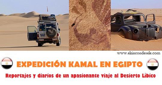 Expedición Kamal en Egipto (Reportaje y diarios de viaje)