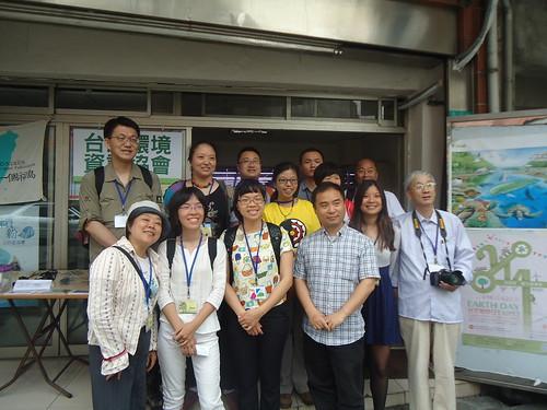 兩岸參訪團於台灣環境資訊協會前留影