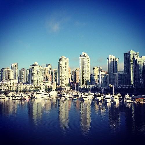 Sunny marina morning #vancouver #water #marina #yaletown