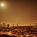 Moon over Tel Aviv by wolfkann