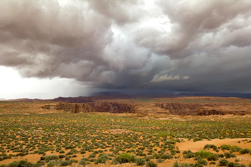 arizona storm rain clouds landscape outdoors sand view desert vista desertsouthwest horseshoebend navajoindianreservation navajonation southwestunitedstates