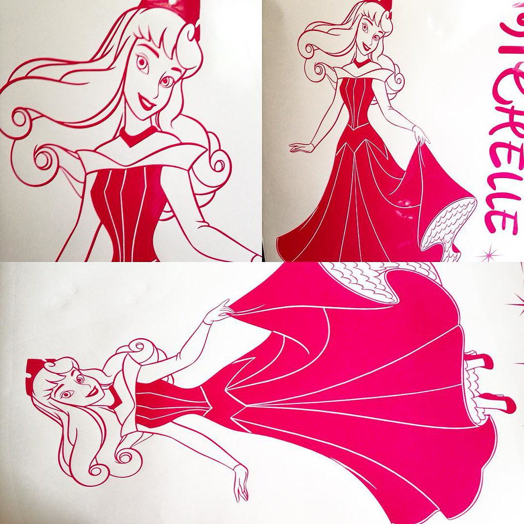 jr decal wall sticker s most interesting flickr photos picssr disney princess aurora wall sticker in hot pink with personalized name and stars please visit