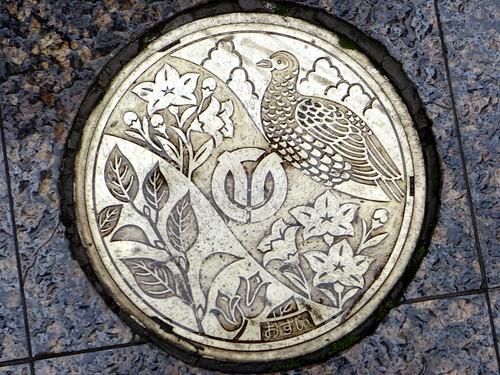 Isehara kanagawa, manhole cover 2 (神奈川県伊勢原市のマンホール2)
