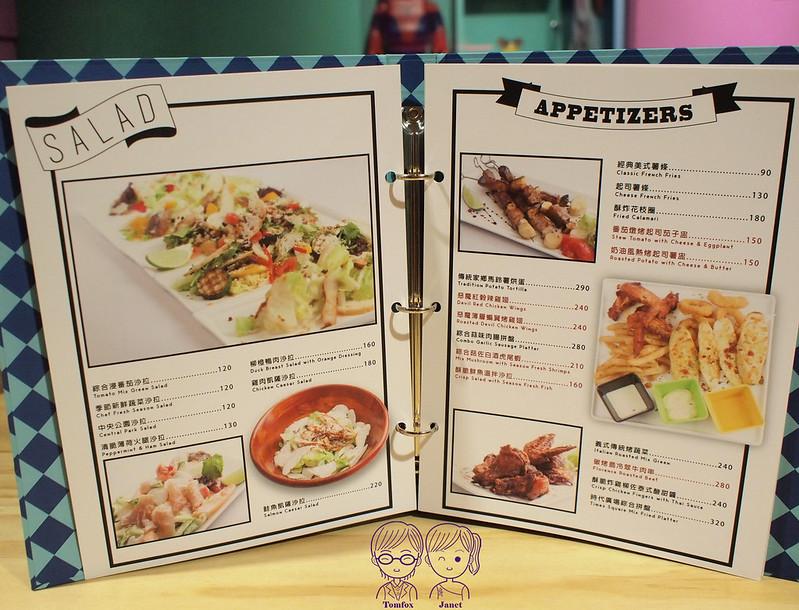 16 Fantasy Diner menu