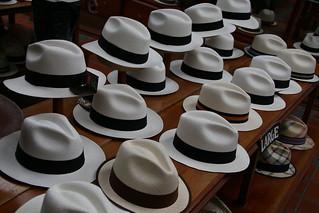 Shopping for Panama Hats in Cuena, Ecuador