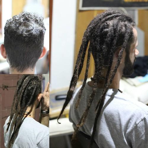 Colocação dos dreads antigos do Bruninho... Satisfação! #hospitaldodread #dreadlock #dread #dreadmaker #dreadsbrasil #instadreads #dreadhead