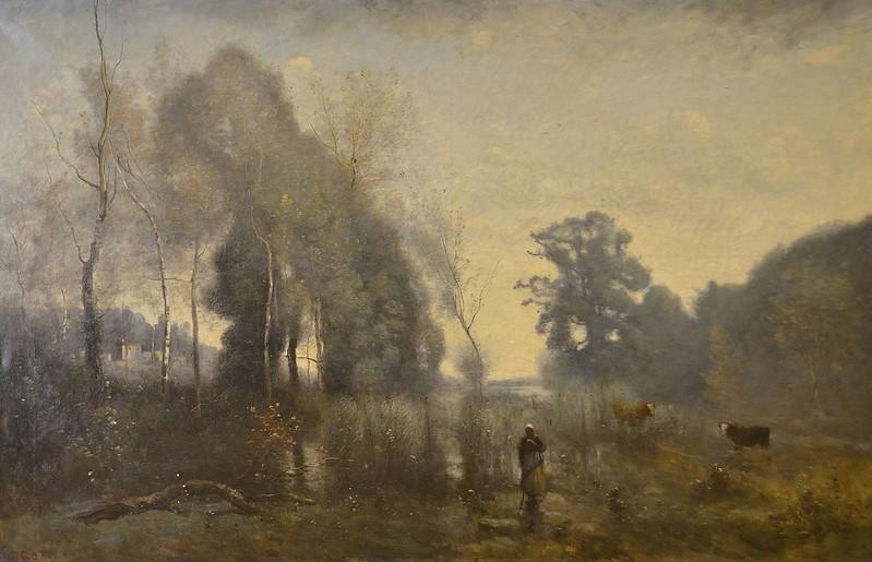 """Rouen (Seine-Maritime) - Musée des Beaux-Arts - """"Un matin à Ville d'Avray"""" (Jean-Baptiste-Camille Corot, 1796-1875)"""
