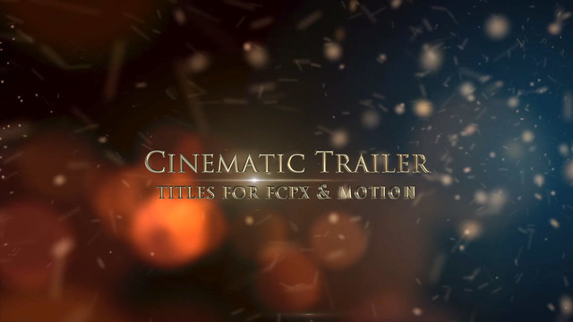 Cinematic Trailer Titles For Motion by miseld | VideoHive
